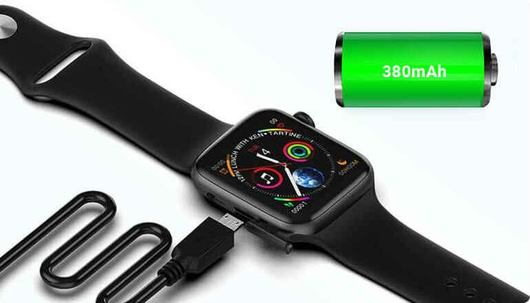 xwatch battery capacity