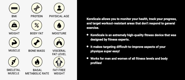 Specifications of Korescale